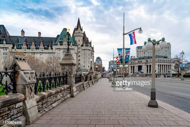 canadian tulip festival at parliament hill ottawa, canada - festival of remembrance 2019 stock photos and pictures