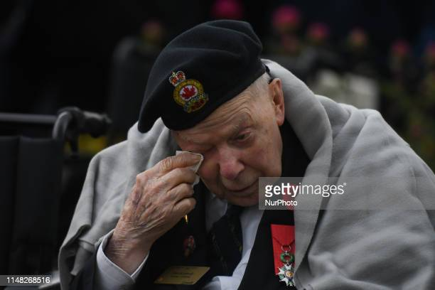 Canadian veteran Earl Kennedy during Canadian Ceremony at the BénysurMer Canadian War Cemetery Over 35 Canadian veterans attended the ceremony at the...
