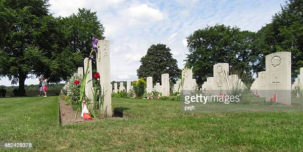 canadian war cemetery, groesbeek - netherlands - pejft stock pictures, royalty-free photos & images