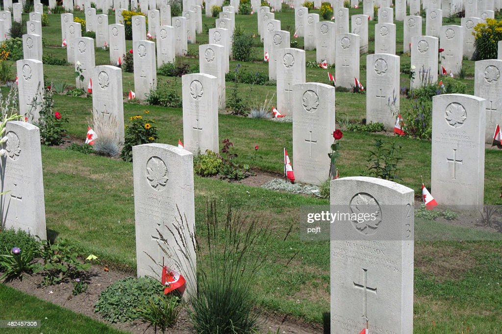 Canadian War Cemetery, Groesbeek - Netherlands : Stock Photo