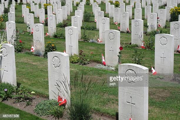 canadian war cemetery, groesbeek – niederlande - pejft stock-fotos und bilder