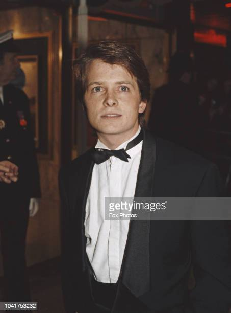 CanadianAmerican actor Michael J Fox at the premiere of the film 'Back to the Future' in which he stars as time traveller Marty McFly London 3rd...