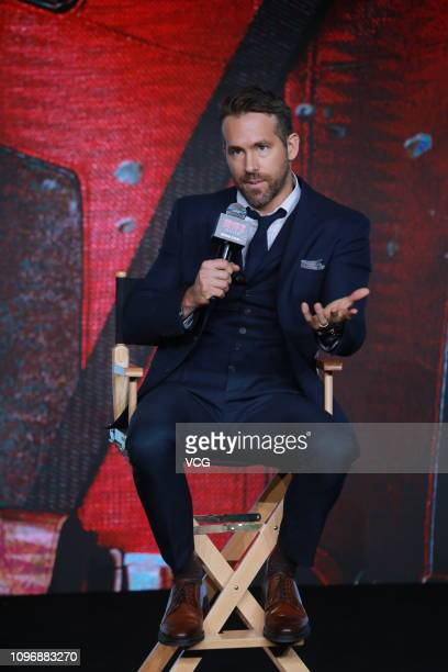 CanadianAmerican actor Ryan Reynolds attends the premiere of 'Deadpool 2' on January 20 2019 in Beijing China