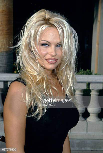 CanadianAmerican actress and model Pamela Anderson attends 'Baywatch' 100th Episode Anniversary Celebration on October 22 1994 at the RitzCarlton...