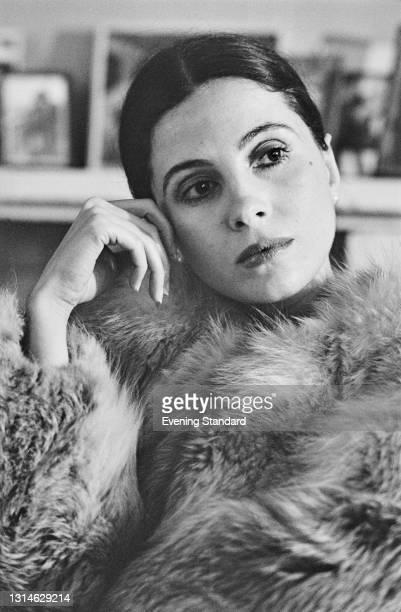 Canadian-American actress and singer Barbara Parkins, UK, 19th April 1974.
