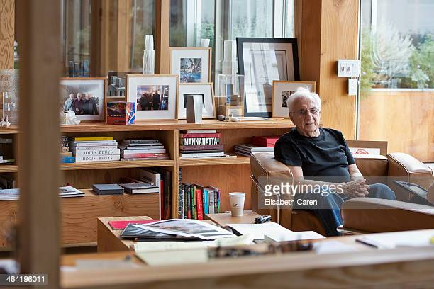 CanadianAmerican architect Frank Gehry is photographed for La Confidential on July 25 2013 in Culver City California