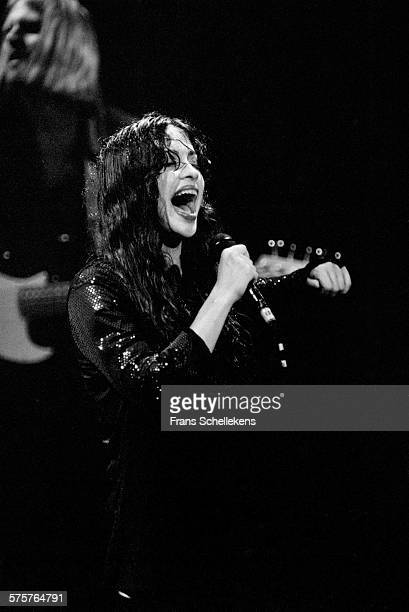 CanadianAmerican singer Alanis Morissette performs on October17th 1995 at the Melkweg in Amsterdam Netherlands