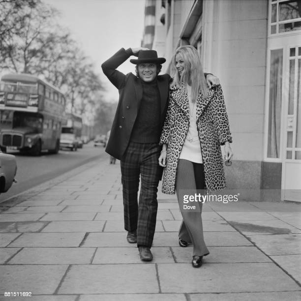CanadianAmerican singersongwriter and actor Paul Anka with his wife Anne De Zogheb London UK 11th January 1971