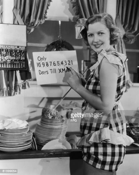 Canadianborn actress Cecilia Parker counts the days till Christmas 22nd December 1935