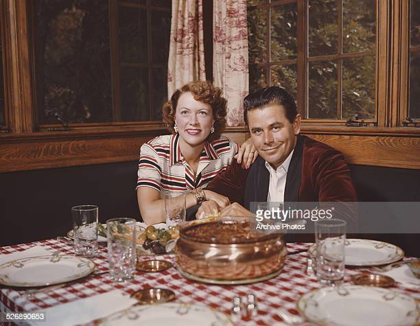Canadianborn American actor Glenn Ford with his wife actress Eleanor Powell circa 1958