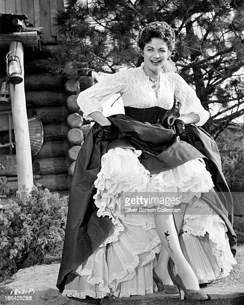 Canadianborn American actress Yvonne De Carlo as Hannah Montgomery in 'Raw Edge' directed by John Sherwood 1956