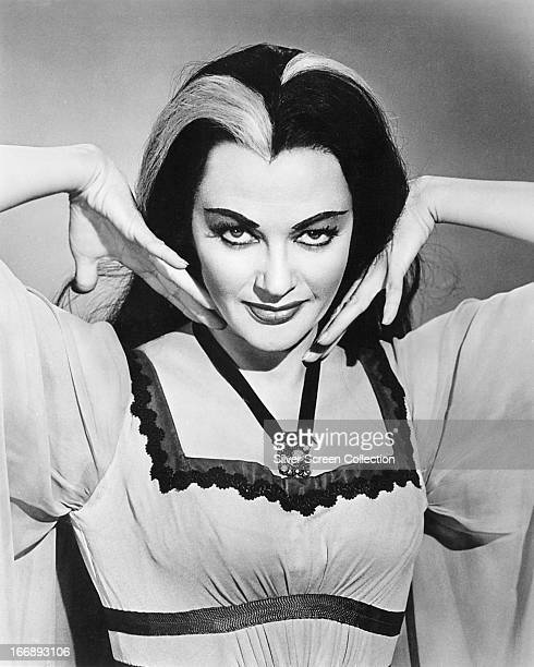 Canadianborn American actress Yvonne De Carlo as Lily Munster in the TV comedyhorror series 'The Munsters' circa 1965