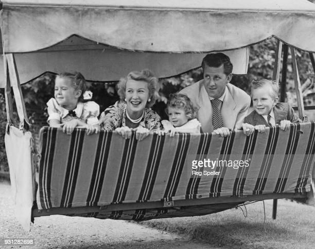 Canadianborn broadcaster Bernard Braden and his wife actress Barbara Kelly with their children Kim Christopher and Kelly at their home in Shepperton...