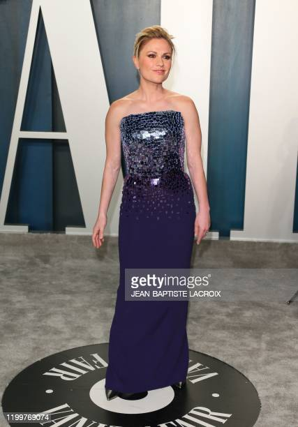 Canadian-New Zealand actress Anna Paquin attends the 2020 Vanity Fair Oscar Party following the 92nd Oscars at The Wallis Annenberg Center for the...