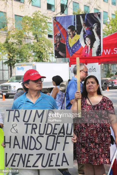 Canadians rally to demand an end to American attempts at a 'regime change' in Venezuela and to denounce Canada's complicity to overthrow the...