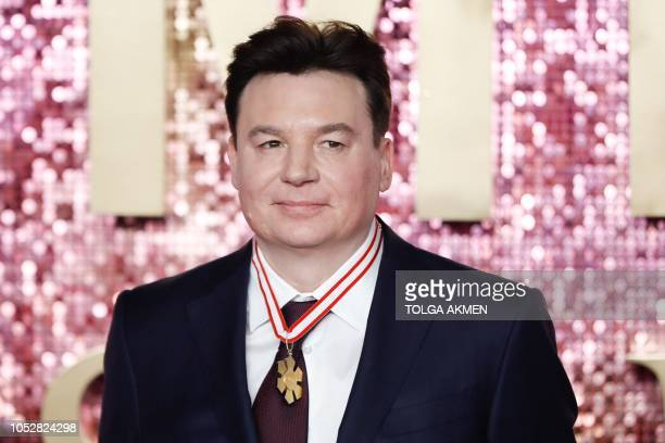 CanadianUS actor Mike Myers poses on the red carpet arriving for the world premiere of the film 'Bohemian Rhapsody' at Wembley Arena in north London...