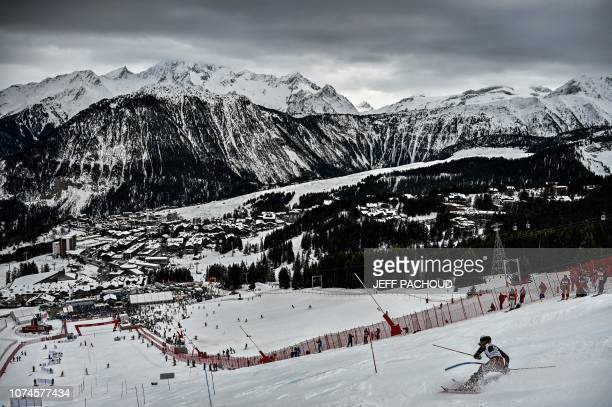 TOPSHOT Canadia's skier Amelia Smart competes in the FIS Alpine World Cup Women Slalom on December 22 2018 in Courchevel French Alps