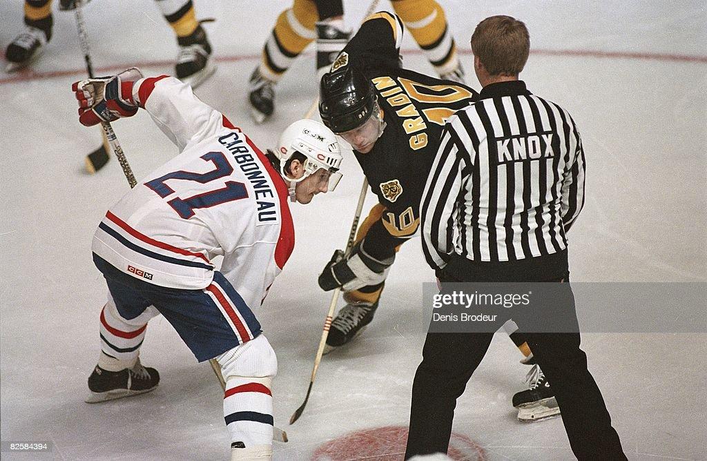 Boston Bruins v Montreal Canadiens 1986-87 : News Photo