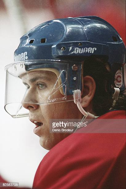 Canadiens defenceman Eric Desjardins during practice at the Montreal Forum during the early 1990ss