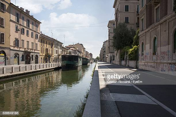 Canal Amidst City