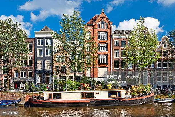 Canal and Row Houses in Amsterdam