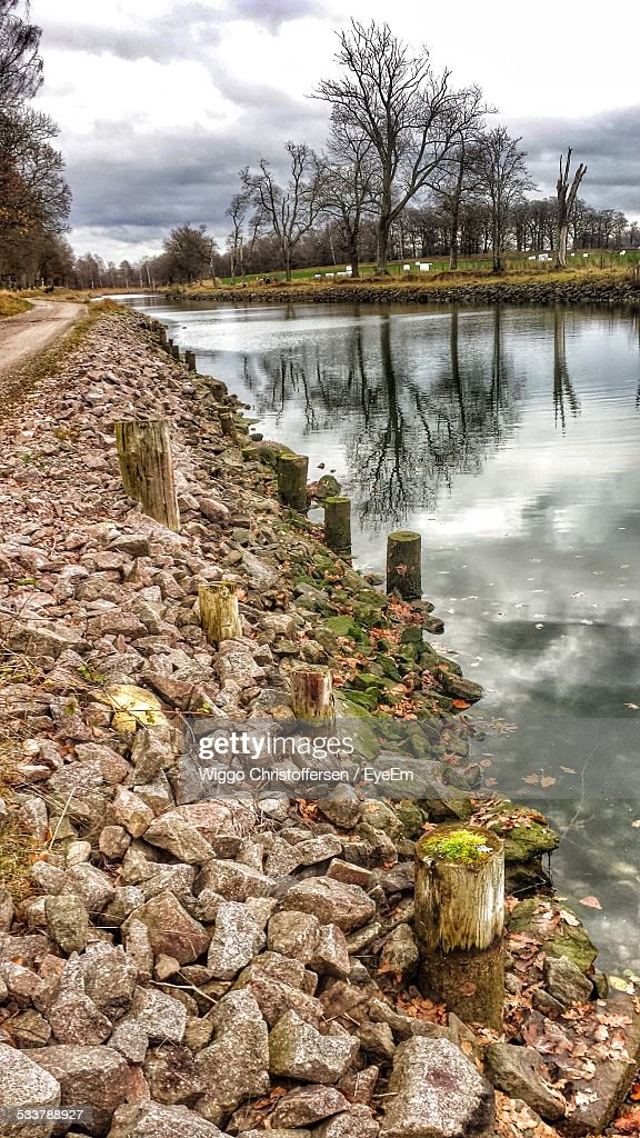 Canal At Roadside : Foto stock
