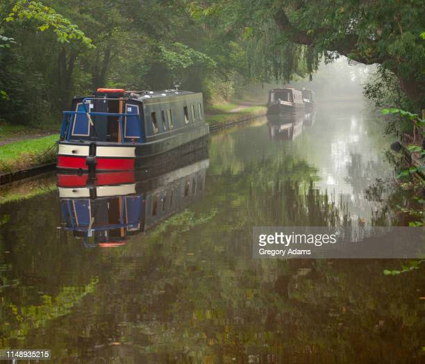 canal barge trip in the united kingdom - barge stock photos and pictures