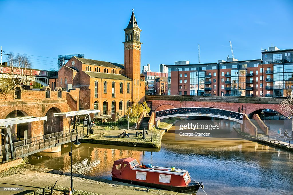 Canal Basin Castlefield Manchester : Stock Photo