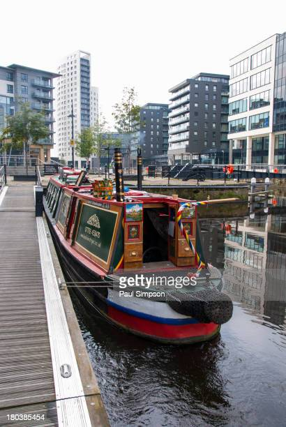 CONTENT] A canal boat at Clarence Dock in the centre of Leeds in the UK A new urban dock area in Yorkshire
