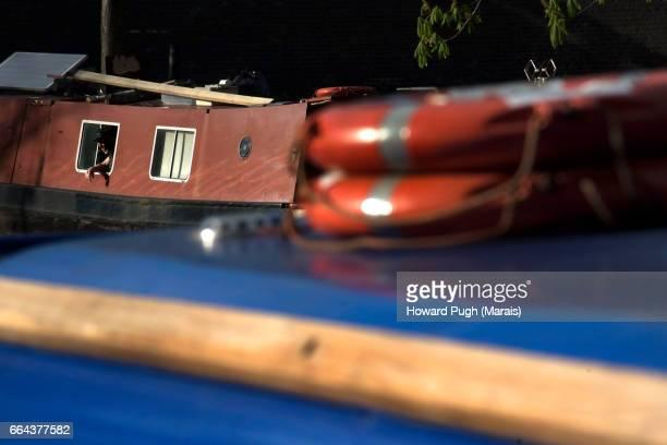 Canal Boat Smoke Break