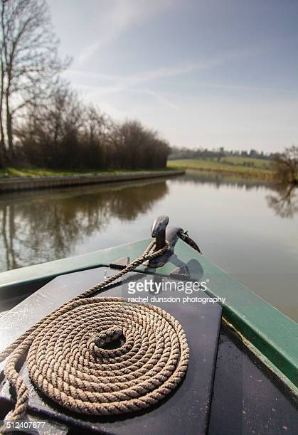 canal boating - milton keynes stock photos and pictures