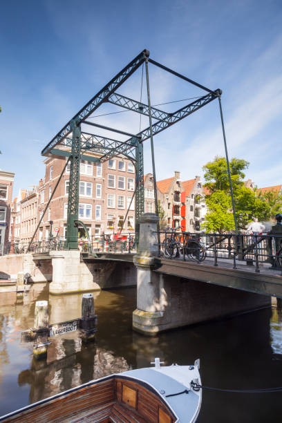 A canal bridge in Amsterdam. The canals of the historic centre of the city have been designated a World Heritage Site by UNESCO.