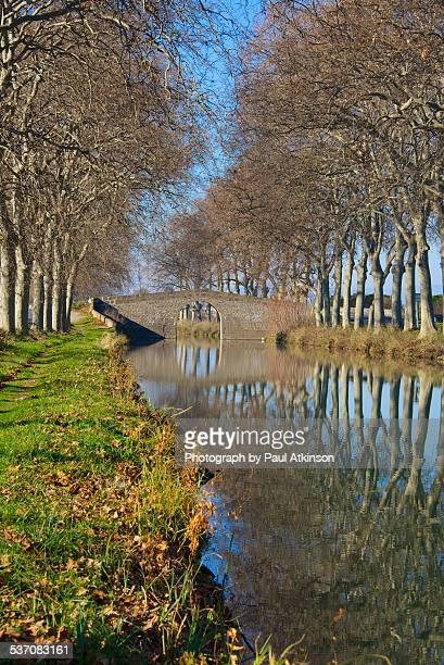 Canal du Midi at Cers in winter