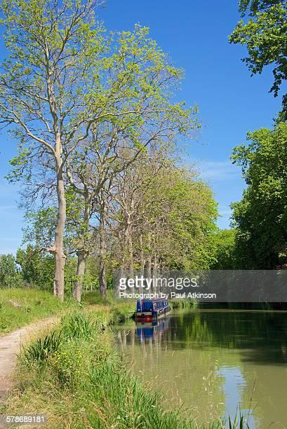 canal du midi near poilhes - canal du midi photos et images de collection