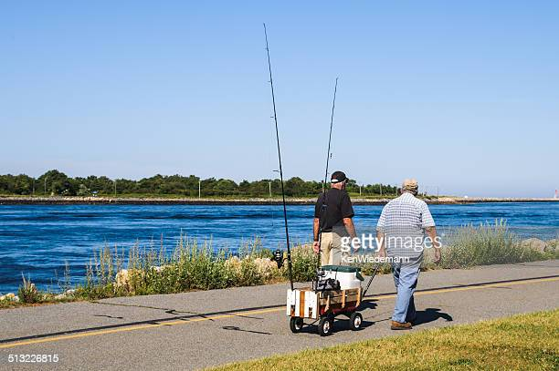 canal fishermen - toy wagon stock photos and pictures