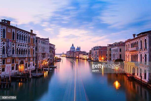 Canal Grande with Basilica di Santa Maria della Salute in the background, Venice, Italy