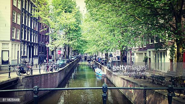 A canal in a city