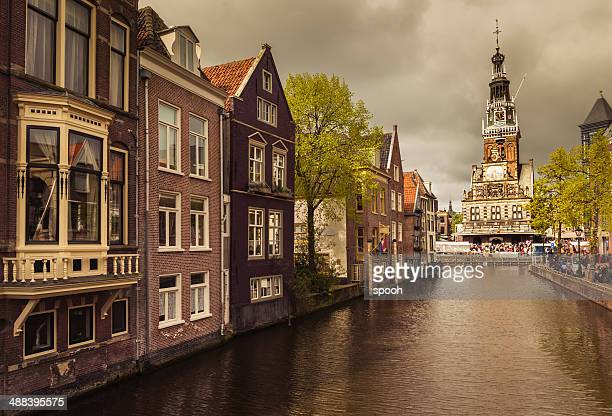 Canal in Alkmaar old town, Netherlands