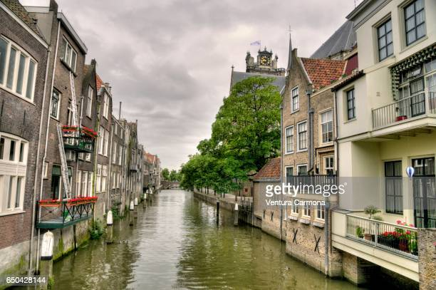 Canal in Dordrecht - The Netherlands