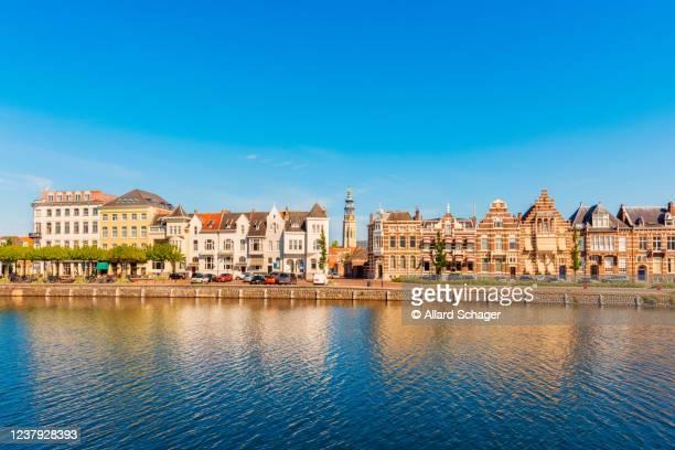 canal in middelburg zeeland netherlands - middelburg netherlands stock pictures, royalty-free photos & images