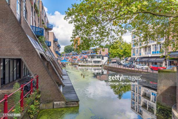 canal in rotterdam, the netherlands - rotterdam stock pictures, royalty-free photos & images