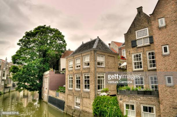 Canal in the Old Town of Dordrecht - The Netherlands