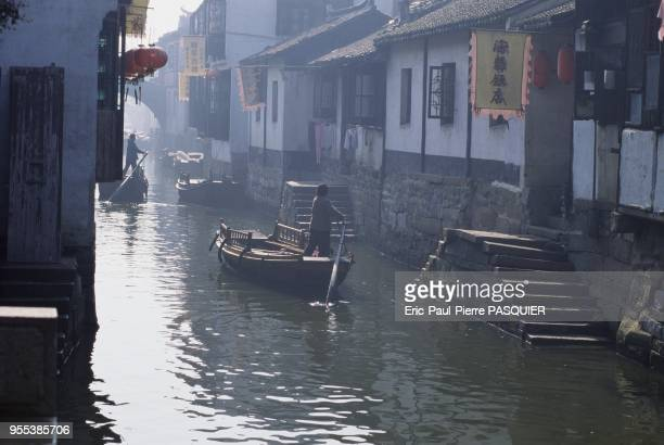 A canal in the village of Zhou Zhuang the Chinese equivalent of Venice