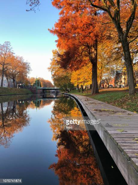 canal in utrecht, the netherlands - utrecht stock pictures, royalty-free photos & images
