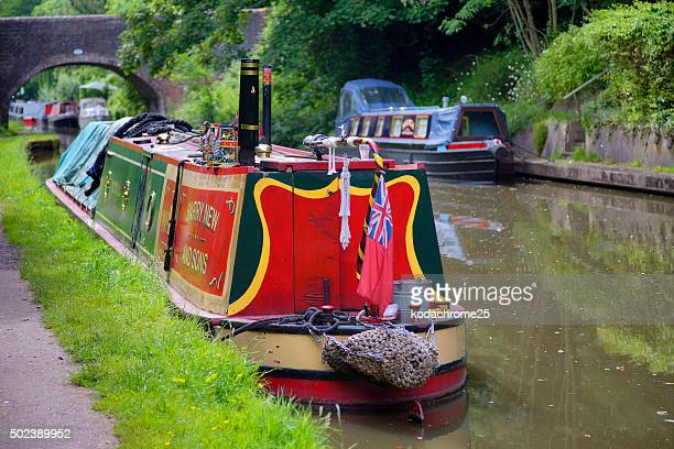 canal - barge stock photos and pictures