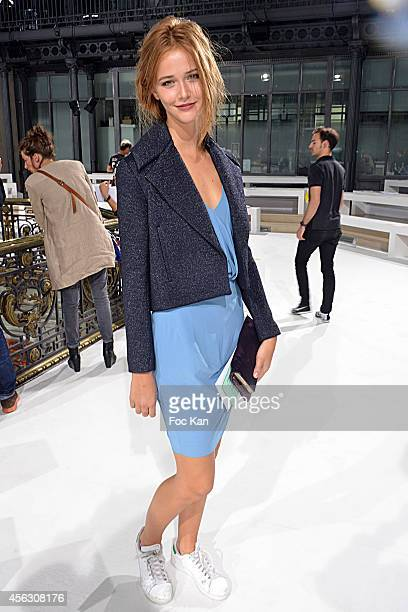 Canal Plus presenter Raphaelle Dupire attends the John Galliano show as part of the Paris Fashion Week Womenswear Spring/Summer 2015 John Galliano...