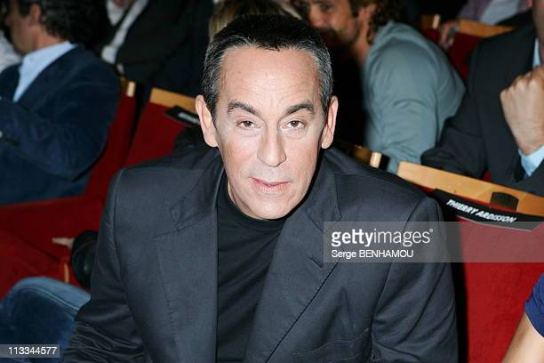 Canal Press Conference At The RondPoint Theater In Paris On August 31St 2006 In Paris France Here Thierry Ardisson