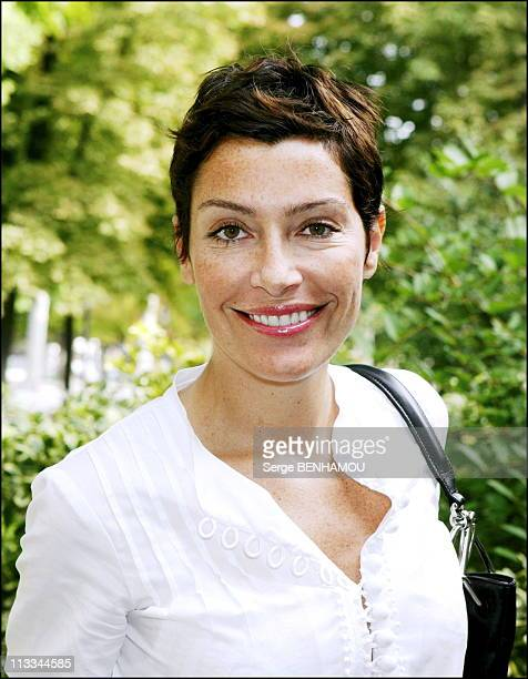 Canal Press Conference At The RondPoint Theater In Paris On August 31St 2006 In Paris France Here Daphne Roulier