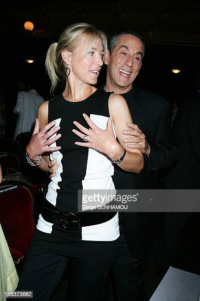 Canal Press Conference At The Theatre Du Chatelet In Paris France On August 28 2007 Florence Dauchez and Thierry Ardisson