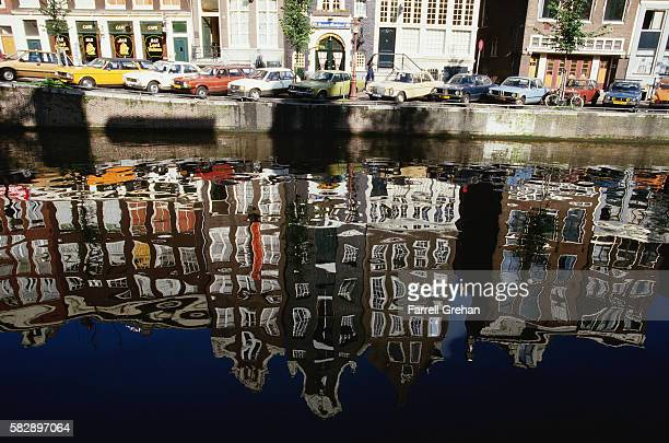 Canal Reflecting Buildings in Amsterdam